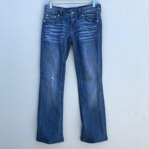 Miss Me Boot Cut Jeans Fleur De Lis #1350